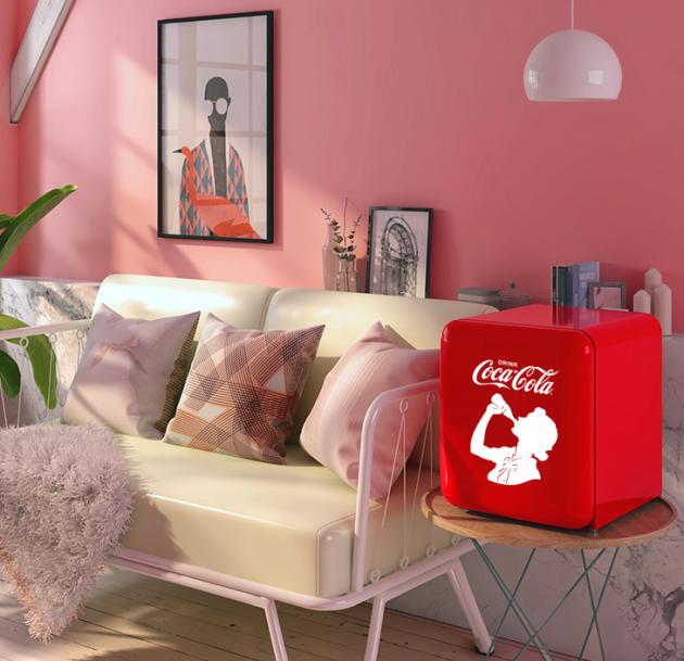 潮流年轻人的选择!HCK哈士奇X可口可乐联名款复古冰箱