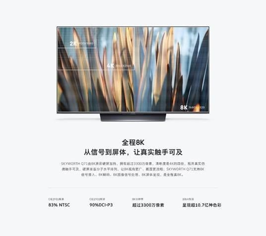 8K实力派,创维Q71系列电视
