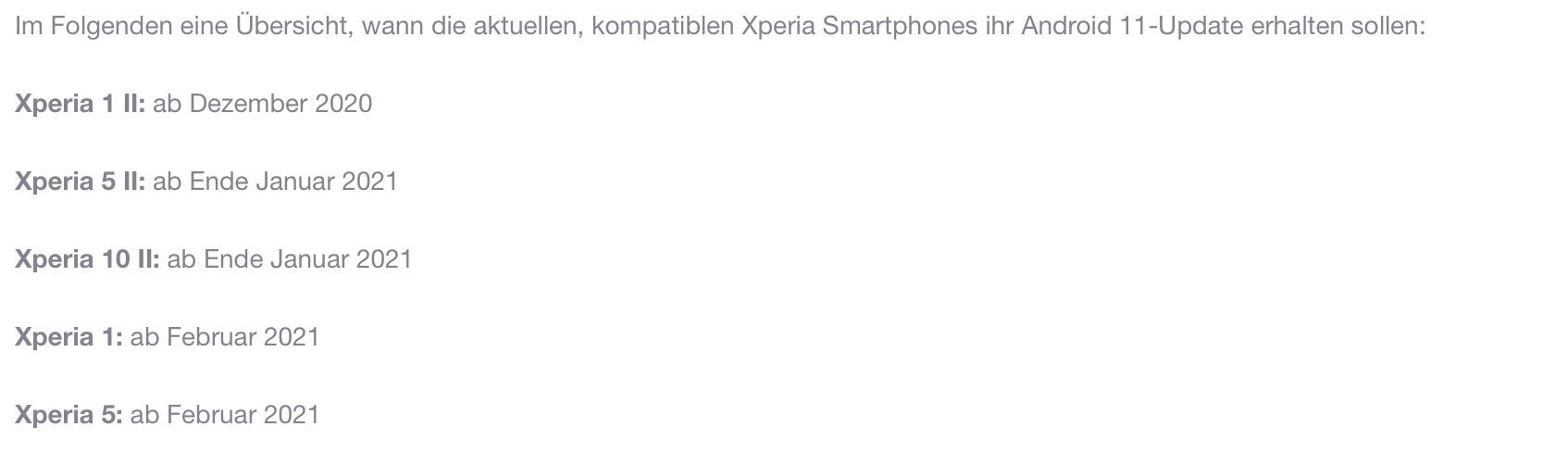 索尼 Android 11 OTA 更新最快本月推出