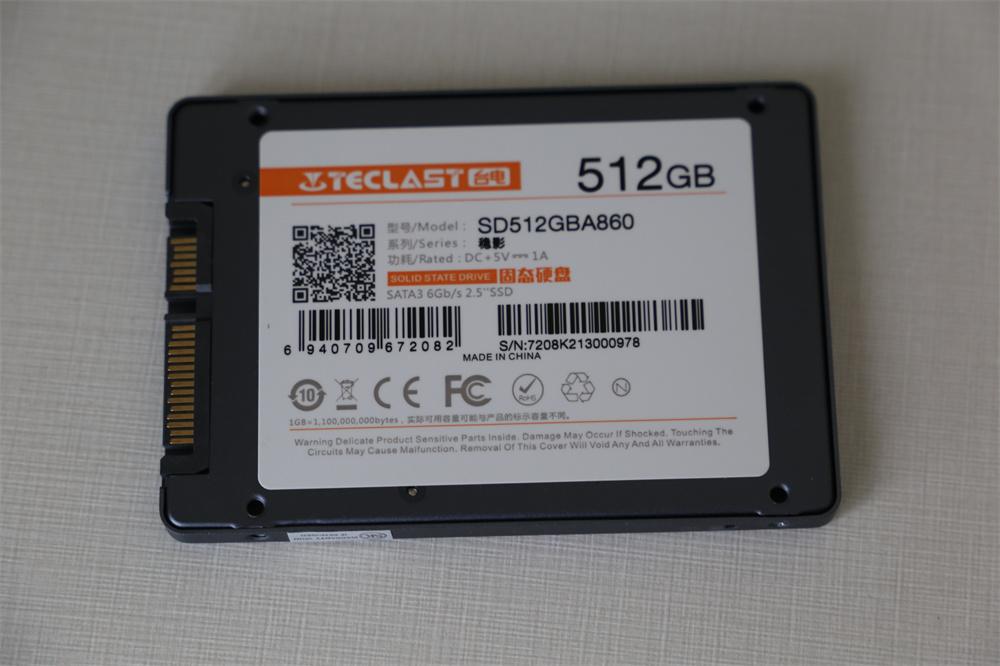 台电稳影系列512Gb SSD评测 入门级产品好用还不贵