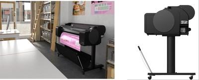 佳能首次推出搭载水性颜料荧光色墨水的大幅面打印机